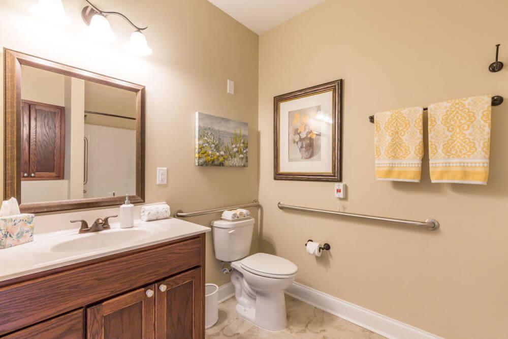 AL Cedar Suite 1B 436 Sq. Ft. Bathroom
