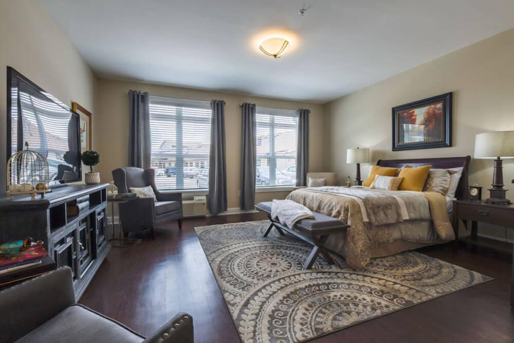 AL Cedar Suite 1B 436 Sq. Ft. Bedroom