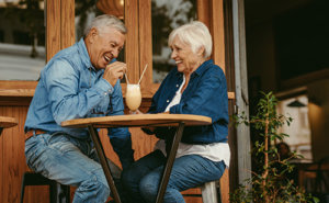 a couple enjoys senior living programs in blue ridge
