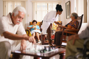 a group benefits from blue ridge senior living options